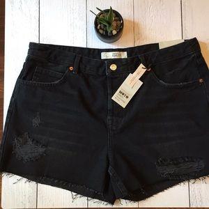 Topshop Moto Ashley Vintage Mid-Rise Shorts